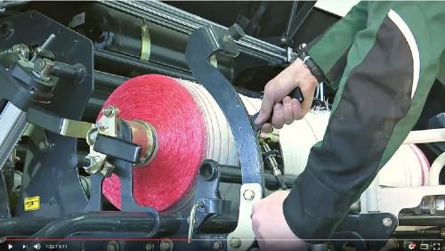 Tutorial video: Changing the net wrap on an IMPRESS round baler