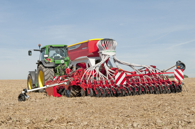The ideal drill row spacing for maximum yield