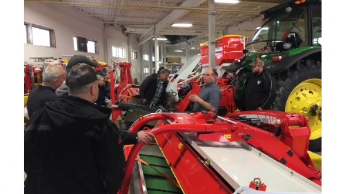 First Service Training at Poettinger Canada's new location