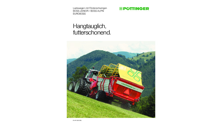 Neues Prospekt: BOSS ALPIN Ladewagen