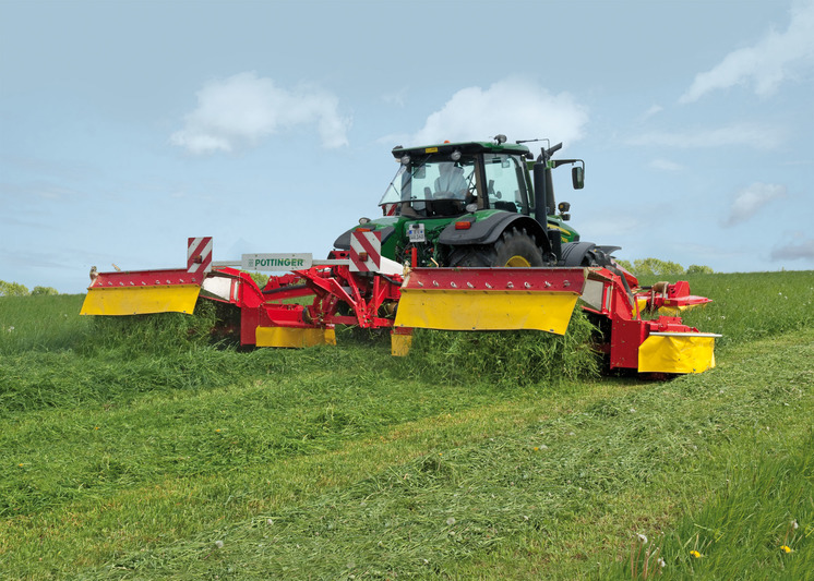 First mower with collector in action in Ireland