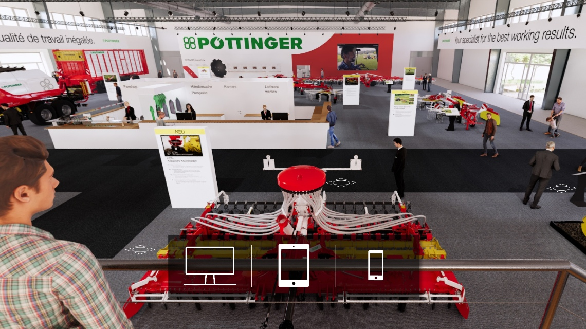 PÖTTINGER launches modern trade fair experience